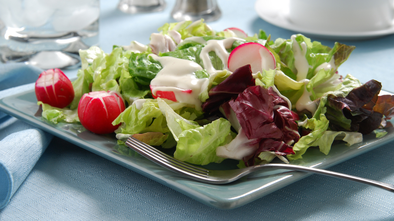 Bunter Salat Mit Radieschen Und Joghurt Dressing Koch Mit