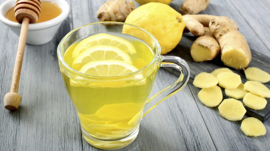Heisse Zitrone mit Ingwer