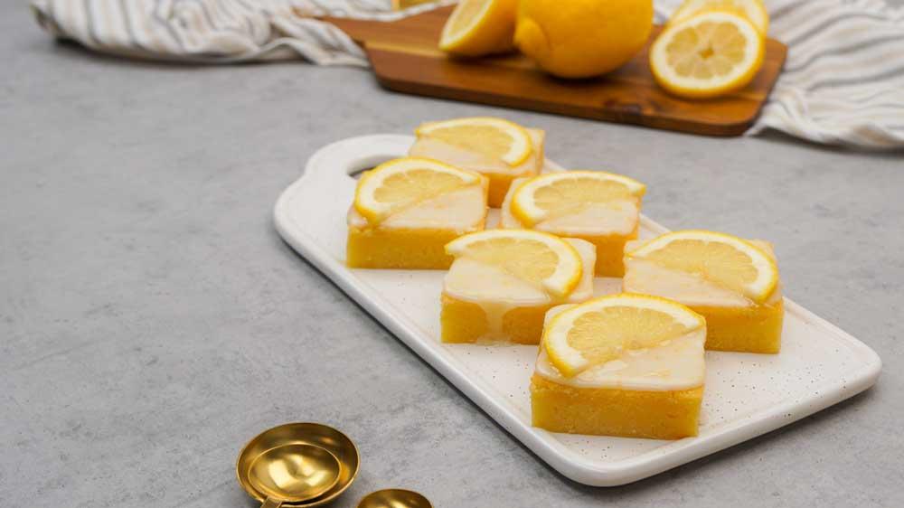 Saftige Zitronenbrownies