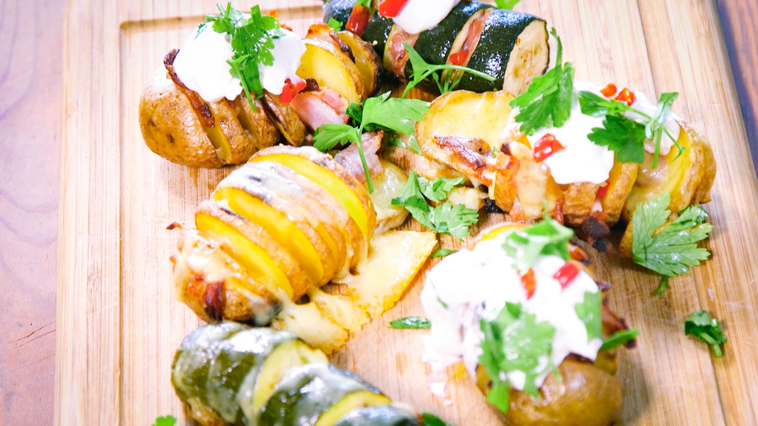 Akkordeon Kartoffeln & Zucchini