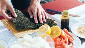 Sushi selbst machen mit Nori-Algen