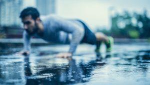 Outdoor Fitness bei Regen