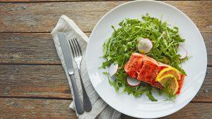 Low Carb - Fisch und Salat