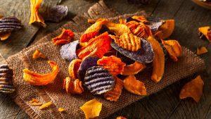 Gemuese Chips aud dem Airfryer