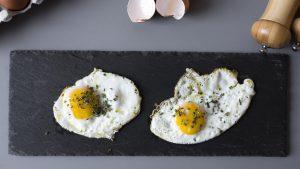 Gebratene Eier als Snack