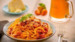 Spaghetti am Abend