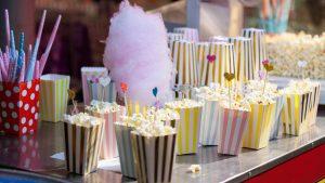 Popcorn und Zuckerwatte