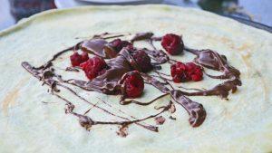 Crepe mit Schokolade vom Severin Crepes Maker
