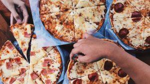 Glutenhaltige Pizza