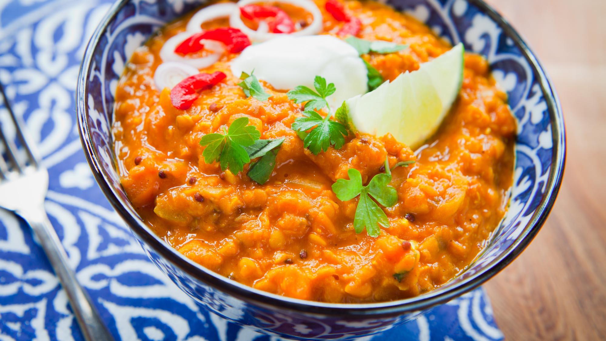 Glutenfrei: Linsen-Curry