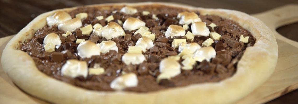 Rezept Für Eine Schoko Pizza Mit Marshmallows Koch Mit