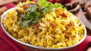 Indische Reis Pfanne