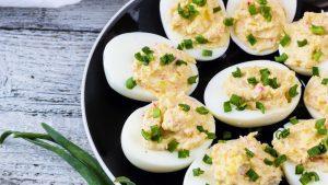 gefuellte Eier mit Senf