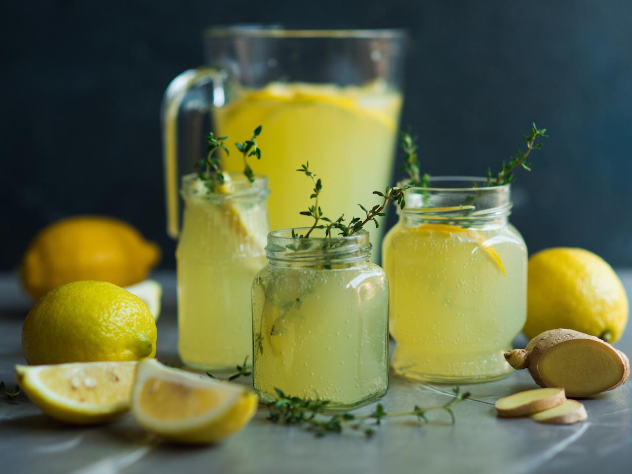 Jeden Tag Zitronenwasser