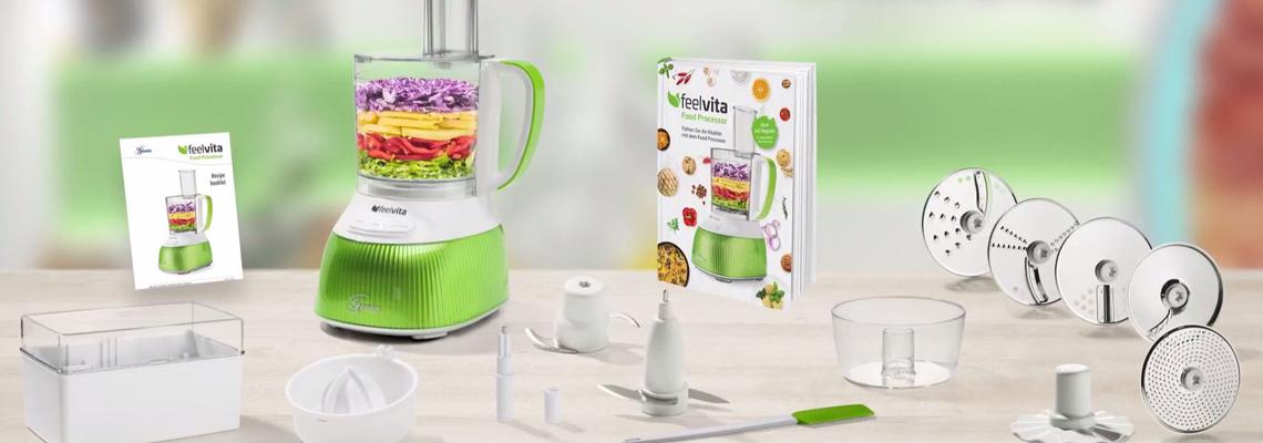 Genius FeelvitaFood Processor RezeptbuchGesunde ErnährungNEU