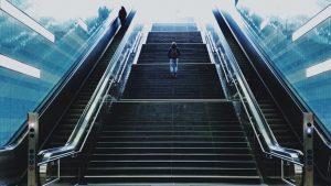 Treppe laufen