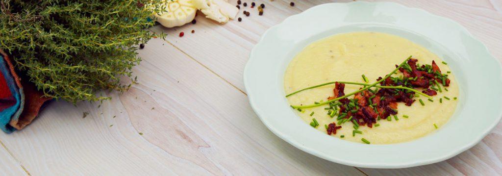 Blumenkohl-Lauch-Suppe