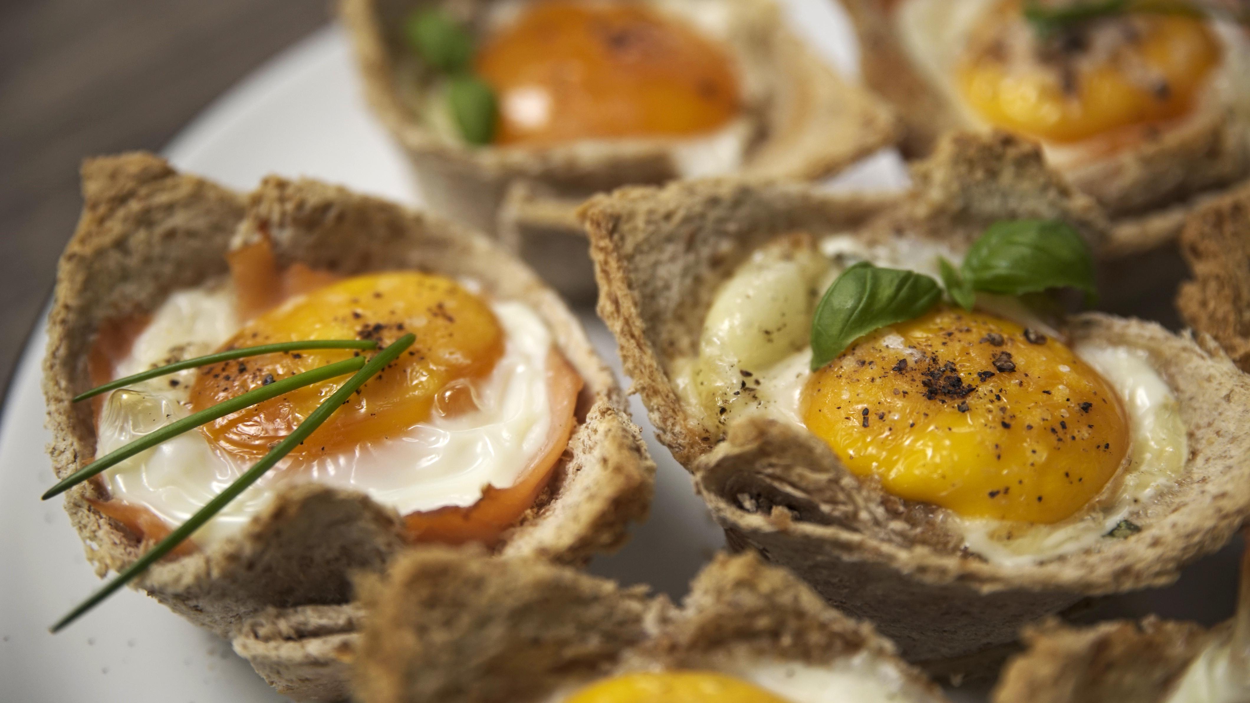 Toast-Muffins mit Ei