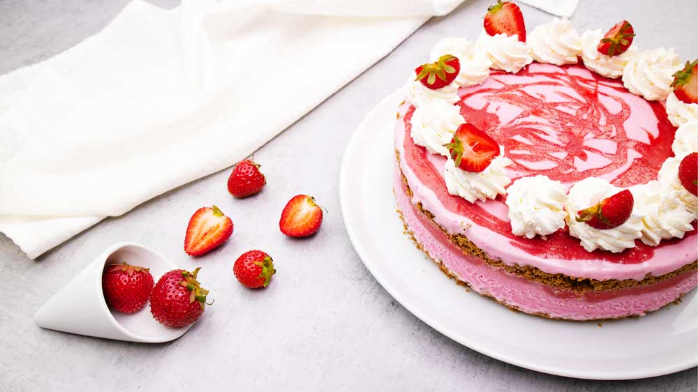 Erdbeer Eistorte
