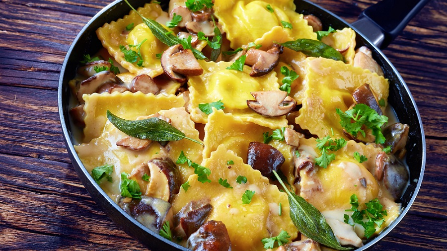 Köstlich: Ravioli mit Steinpilzfüllung