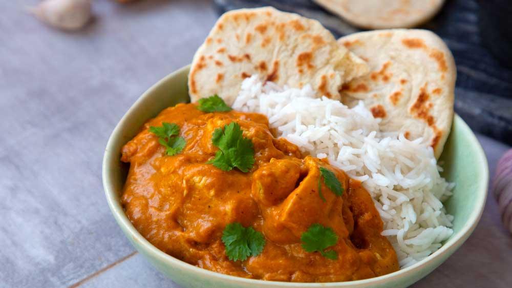 Mit Hühnchen: Chicken-Curry
