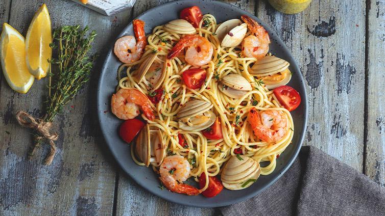 frutti di mare spaghetti einfach und fix mit dem