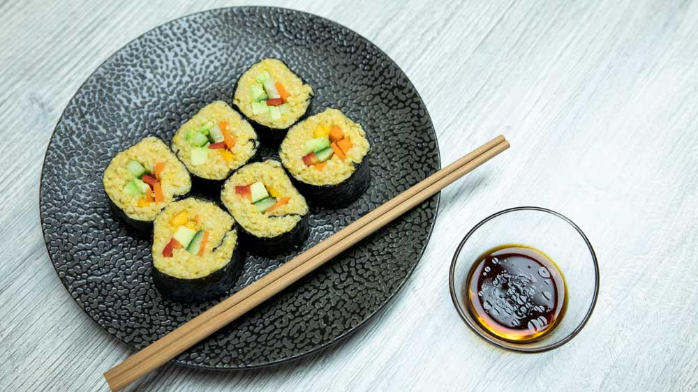 Hirse-Sushi