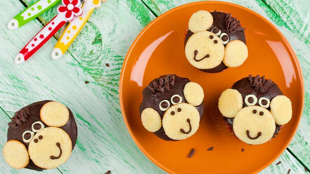 Lustige Affen-Muffins