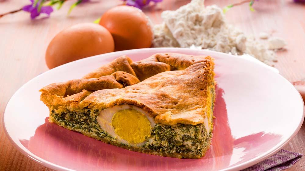 Original Pasqualina mit Spinat und Eiern