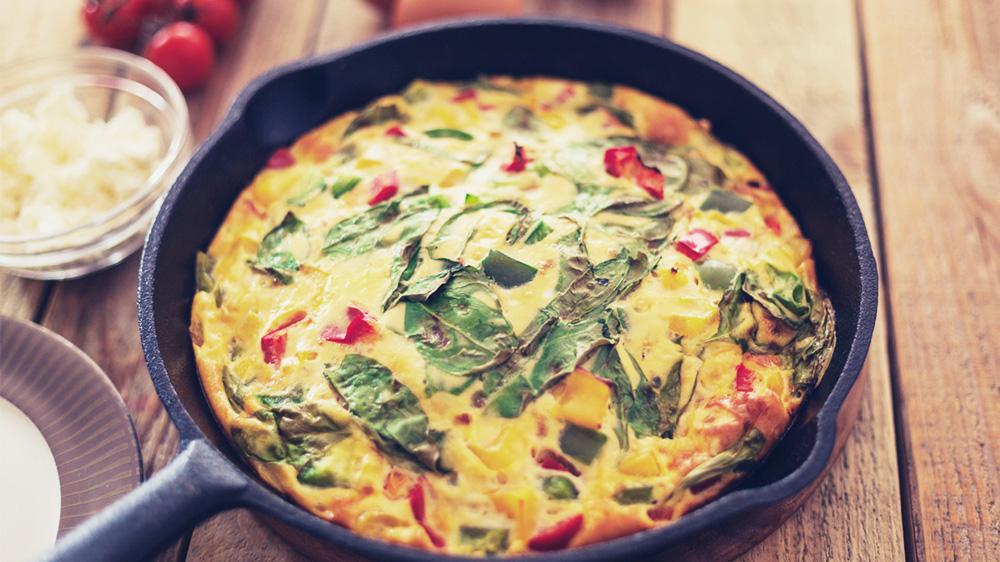 Tomaten-Spinat-Frittata