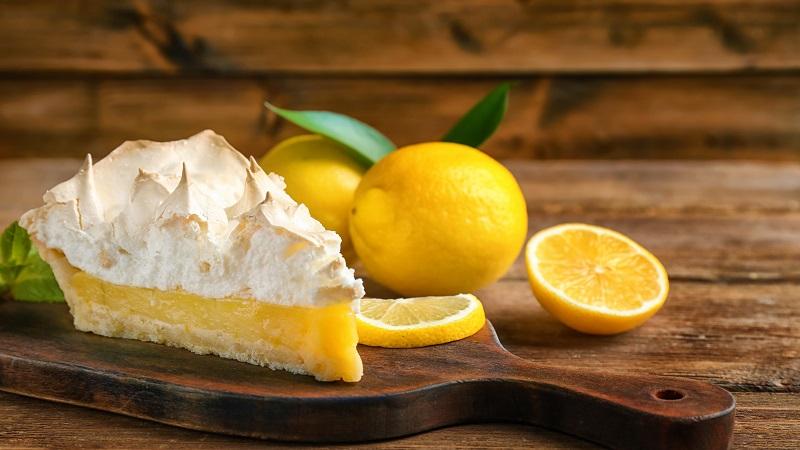 Zitronen Baiser Kuchen