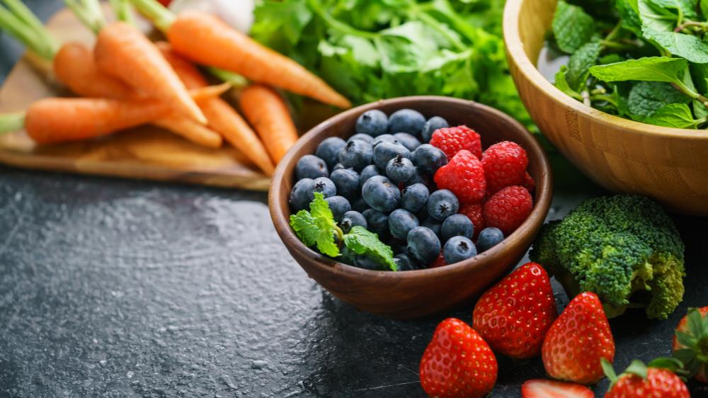 Beeren, Kräuter & Gemüse