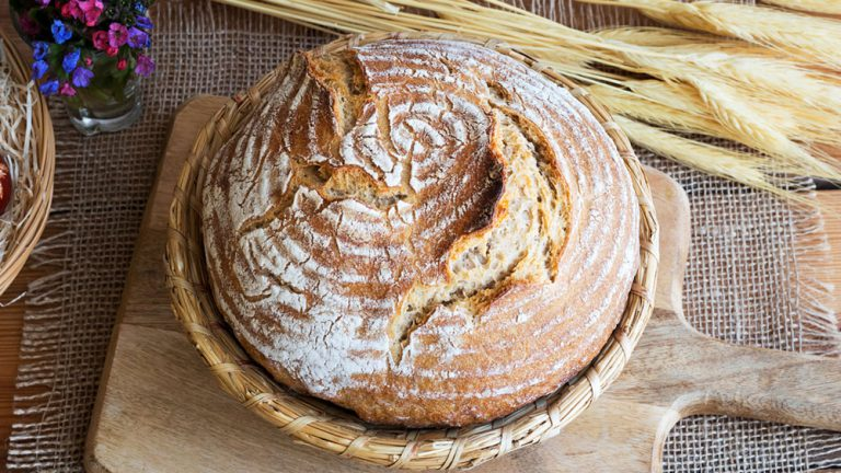 Brot im Gärkorb