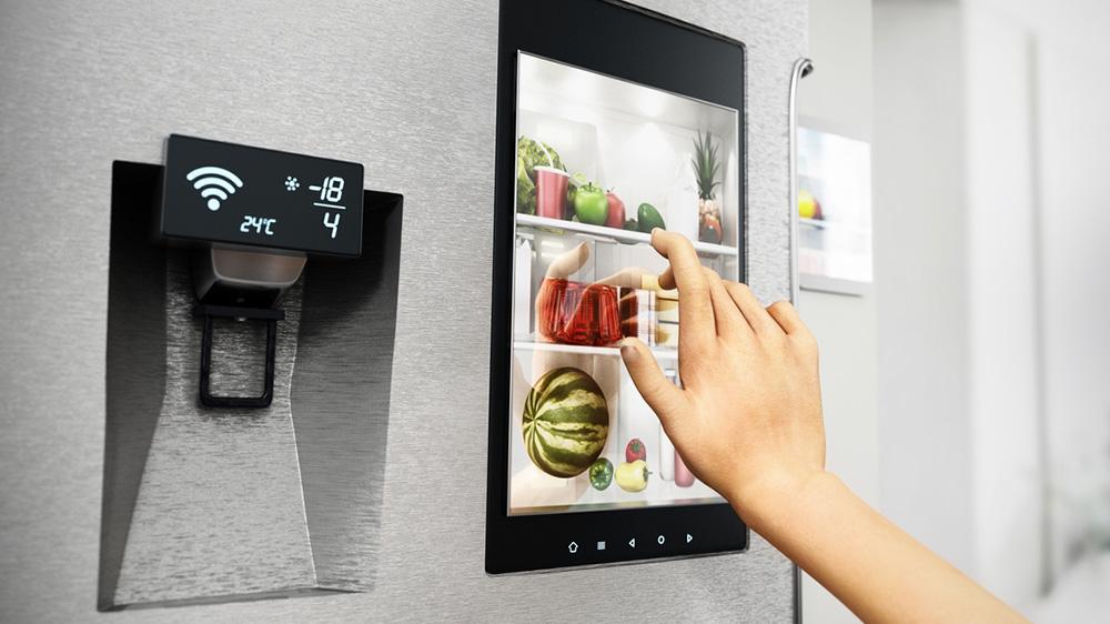 Bedienung eines smarten Kühlschranks