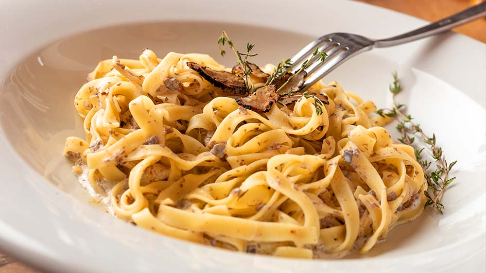 Pasta mit Trüffeln & Parmesan