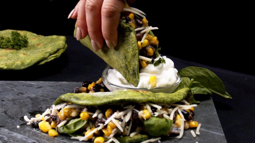 Spinat-Tacos