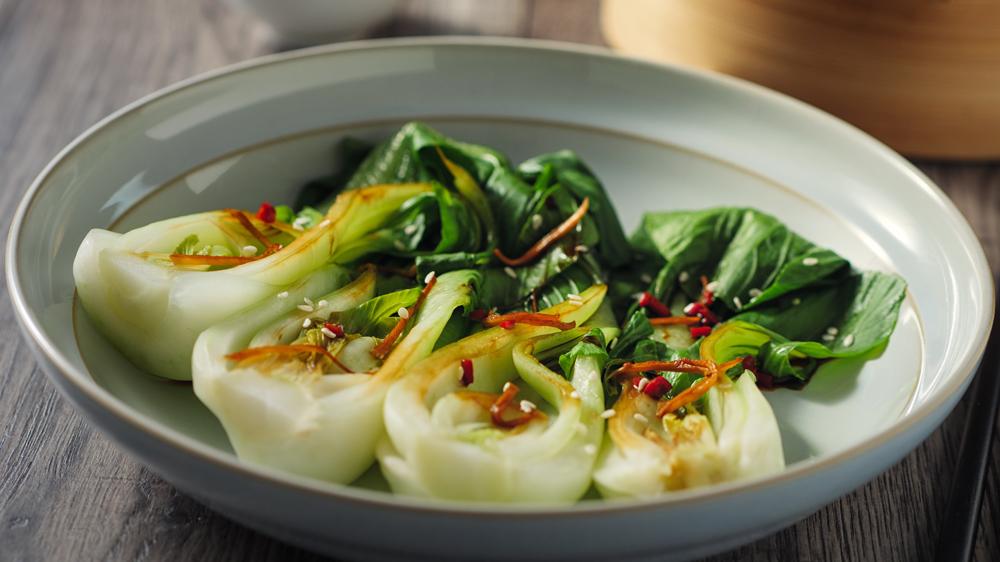 Pak-Choi-Salat mit Sojasauce: Asiatisch würzig