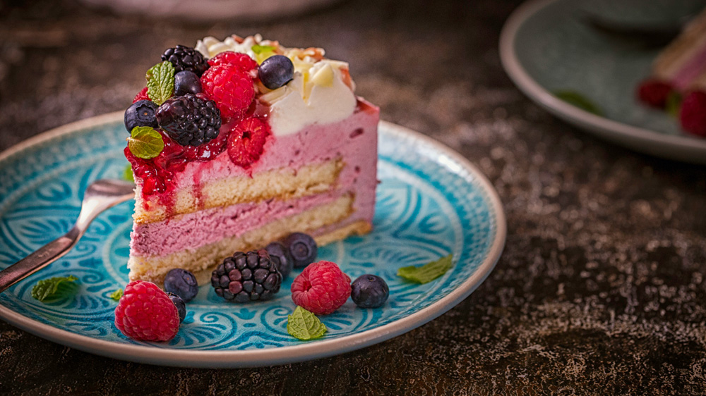 Himbeer-Sahne-Torte mit Joghurt